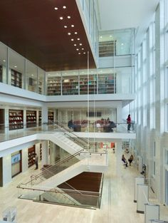 St. Louis Public Library. If you haven't visited since the renovation, this is the area that was formally the 7-story glass foor area.