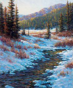 "Big Sky Journal - #Artist of the West: Paul Waldum, ""Warm Winter Afternoon"" | Pastel | 30"" x 24"""