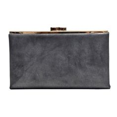 Leather Clutch Wallet - Rustic Black