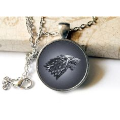 Game of Thrones Inspired House Stark Antique Silver Cameo Pendant... ($14) ❤ liked on Polyvore featuring jewelry, necklaces, cameo jewelry, cameo pendant necklace, clear necklace, layered pendant necklace and layered chain necklace