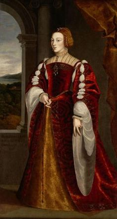 Jakob Seisenegger (1505–1567) Retrato da Imperatriz Isabel de Portugal sec. XVII óleo sobre tela 202 x 145 cm Kunsthistorisches Museum Wien