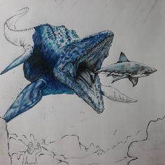 Dinosaur Sketch, Dinosaur Drawing, Dinosaur Art, Animal Sketches, Animal Drawings, Pencil Drawings, Creature Drawings, Jurassic Park World, Extinct Animals