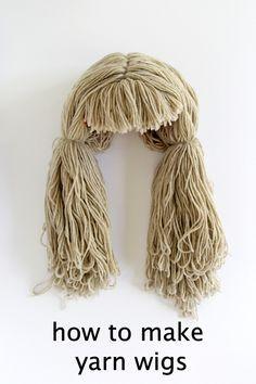 How to make a yarn wig, a super easy DIY!