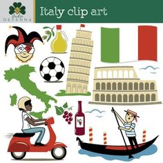 watercolor clip art italy gondola venice clip art and watercolor rh pinterest com carte italie clipart carte italie clipart