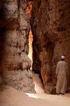 Slot canyon, Archei region, #Chad