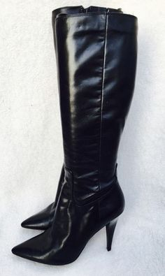 Nine West Hotduoo Tall Knee High Boots Leather Uppers 7 M Rubber Sole | eBay