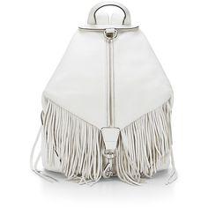 Rebecca Minkoff Fringe Julian Backpack ($395) ❤ liked on Polyvore featuring bags, backpacks, handbags, rebecca minkoff backpack, multi pocket bag, white fringe bag, fringe backpack and knapsack bags