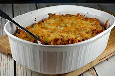 Simple Tortilla Casserole is an easy weeknight meal. Rotisserie chicken, in a flavorful tomato sauce, layered with corn or tortilla chips and cheese! Easy Enchilada Casserole, Mexican Chicken Casserole, Fiesta Chicken, Mexican Food Recipes, Mexican Meals, Ethnic Recipes, Casserole Kitchen, Doritos, Enchiladas