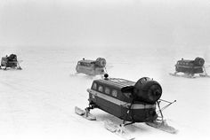 USSR Life. Postal snowmobile in the Khabarovsk Territory, 1983