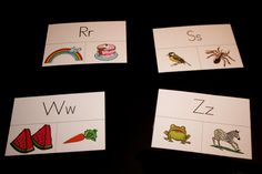 Letter sound cards. Could use mini clothespins to mark the right letter