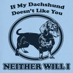 If My Dachshund Doesn't Like You Funny Novelty T by RogueAttire, $18.99