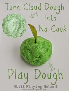 Leftover Cloud Dough No Cook Play Dough Recipe from Still Playing School