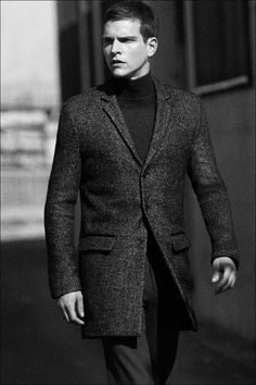 Fall into style with the wool blend topcoat from Calvin Klein.