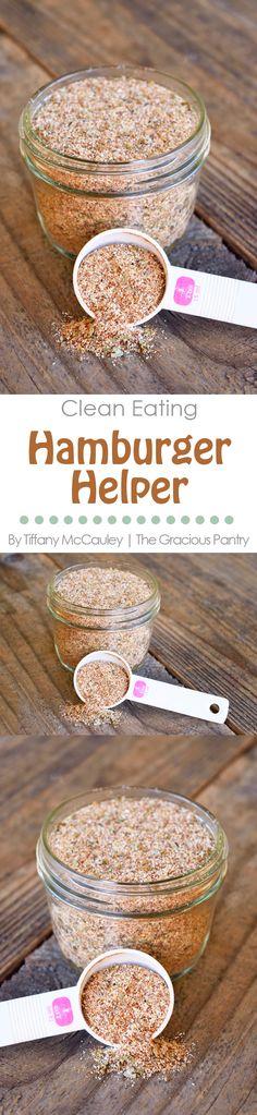 Clean Eating Recipes   Hamburger Helper Recipes   Healthy Hamburger Helper Recipe   Dinner Recipes   Dinner Ideas ~ https://www.thegraciouspantry.com