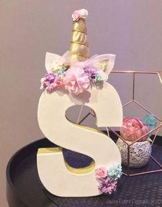 Unicorn Theme Decorated Letters - Pastel -home decor-birthday party centrepiece #babyshowerideas4u #birthdayparty #babyshowerdecorations #bridalshower #bridalshowerideas #babyshowergames #bridalshowergame #bridalshowerfavors #bridalshowercakes #babyshowerfavors #babyshowercakes