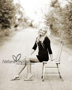 senior girl dirt road