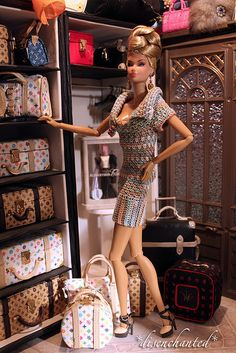 Barbie & her LV luggage