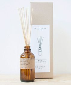 Candle Co. Amber & Moss Reed Diffuser from our Classic Line. A weekend in the mountains, sun gleaming through the canopy. Sage, moss, and lavender. Diffuser Sticks, Oil Diffuser, Amber Glass Bottles, Fragrance Oil, Candles, Golden Coast, Incense, Lavender, Packaging Design