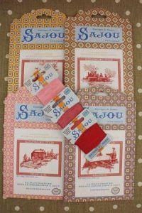 Acheter ensemble : 4 grilles Sajou Toile de Jouy et trois cartes de Retors du Nord
