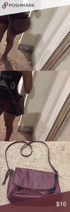 H&M wine colored bag Plum wine colored Bag. Gold zipper. H&M Bags Crossbody Bags