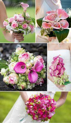 Brautstrauß mit Calla in Rosa und Pink