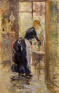 The Little Maid Servant, 1886, Berthe Morisot    Medium: oil on canvas