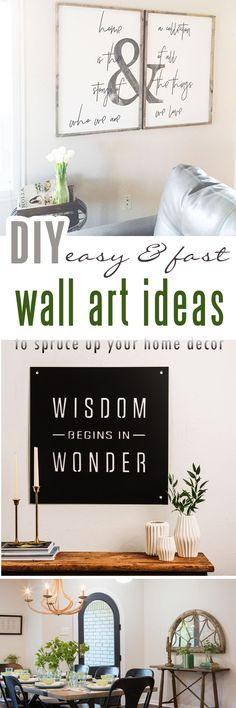 18 Rustic Wall Art & Decor Ideas That Will Transform Your Home – Craft-Mart – Home decor, crafts, projects, gifts, furniture – Diy Home Decor Crafts Rustic Wall Art, Rustic Walls, Diy Wall Art, Wall Art Decor, Wall Decorations, Do It Yourself Furniture, Do It Yourself Home, Diy Furniture, Joanna Gaines