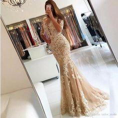 Elegant Appliqued Navy Blue Evening Dress V Neck Off Shoulder Formal Dress Prom Gown Floor Length Mermaid Dress 2018 from andybridaldresses, $134.68 | DHgate Mobile