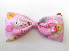 """8"""" Fairy kei hair bow bunnies pink on Etsy, $9.00"""
