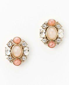 Cabochon Button Earrings