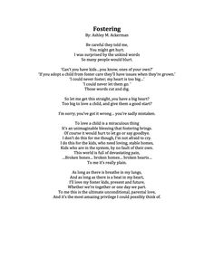Fostering: A poem by Ashley M. Foster Care Adoption, Foster To Adopt, Parents Poem, Fantastic Quotes, You Hurt Me, Baby Songs, Poems Beautiful, Adopting A Child, Gods Plan