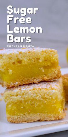 Sugar Free Deserts, Sugar Free Sweets, Sugar Free Cookies, Sugar Free Recipes, Baking Recipes, Lemon Candy Recipe, Lemon Cheesecake Recipes, Lemon Desserts, Delicious Desserts
