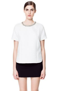 Image 1 of COMBINATION JACQUARD TOP from Zara