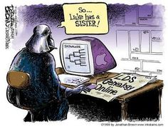 LDS Humor Funny Mormon through Genealogy. just ask Darth Vader. Funny Mormon Memes, Lds Memes, Lds Quotes, Inspirational Quotes, Church Memes, Church Humor, Genealogy Humor, Lds Genealogy, Family Genealogy