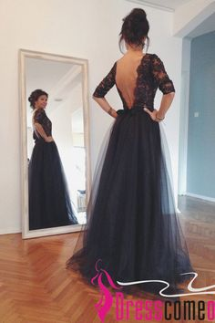 Maxi Black Open Back Lace Evening Gown 2015 New Arrival Ball Gown Prom Dress,lace black prom dress,backless prom dresses,evening gowns,party dresses,graduation dresses,skirt dress,lace prom dress,tulle prom dresses,sexy prom dresses.so beautiful