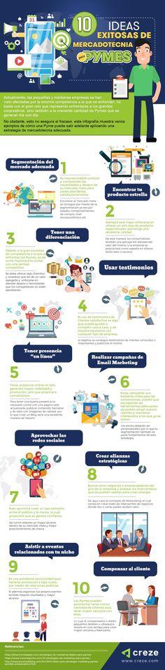 10 ideas de marketing exitosas para pymes #infografia