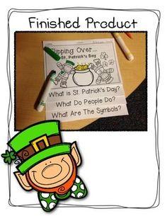St. Patrick's Day Flip Book. This interactive reader is great to use for St. Patrick's Day.  #St.Patrick'sDayReader