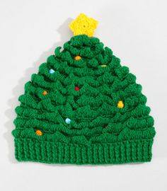 Christmas Tree Hat | San Diego Hat Co Christmas Cap | fredflare.com -- kind of want to make one of these this year.