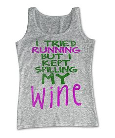Athletic Gray Heather 'I Tried Running' Tank | zulily