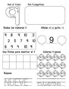 numeros-hasta-el-10-9-638 Pre K Activities, Preschool Learning Activities, Teaching Resources, Educational Activities, Preschool Themes, Math Literacy, Math Class, Kindergarten Math, Math 4 Kids