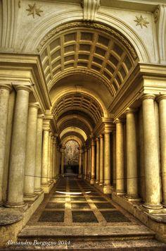 Francesco Borromini - Galleria prospettica - Palazzo Spada (1652-1653)