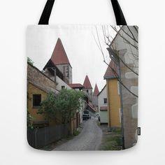 Small Lane in Amberg Tote Bag by Christine aka stine1 - $22.00