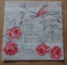 Floral Napkins For Decoupage Peony Motif Napkins by GracesLaces