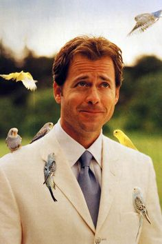 Greg Kinnear any guy that loves critters is adorable. Why Do Birds, Greg Kinnear, Love Film, People Of Interest, Young Actors, Sharp Dressed Man, Hottest Pic, Hot Guys, Hot Men