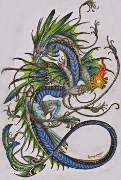 NEE Deze draak is veel te druk, te veel frutsels op elkaar gepakt