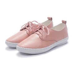 Tendance Chaussures 2017/ 2018 : 2017 Size 34-40 Fashion Pink Genuine Leather Loafers Women Flats Ladies Shoes Wo