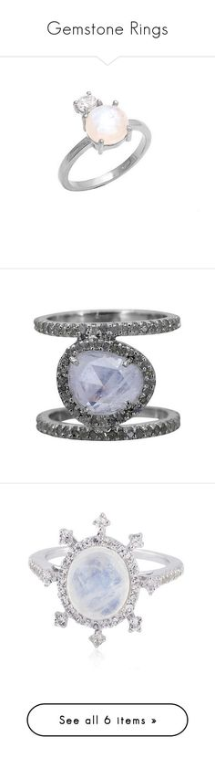 Gemstone Rings by lilianaskyejewelry on Polyvore featuring Liliana Skye, women's fashion, jewelry, rings, silver jewelry, stacking rings jewelry, moonstone #moonstonering jewellery, handcrafted jewelry, hand crafted jewelry, handcrafted jewellery, band je