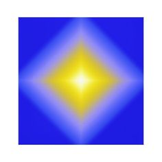 Radiant Star on Blue Canvas Print