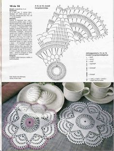 Crocheted motif no. Crochet Rug Patterns, Crochet Bedspread, Crochet Motifs, Crochet Tablecloth, Crochet Doilies, Bonnet Crochet, Crochet Beanie, Crochet Hats, Point Lace
