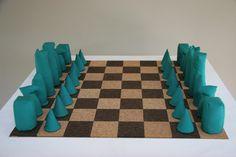 Barry Flanagan's sculpture of Chess (1973).
